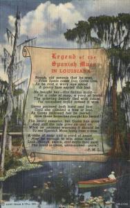 Legend of the Spanish Moss in Louisiana - 1940 - Linen