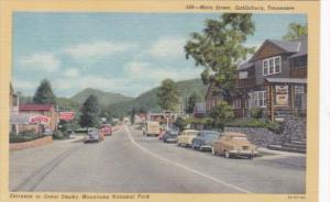Main Street Entrance To Great Smoky Mountains National Park Gatlinburg Tennes...