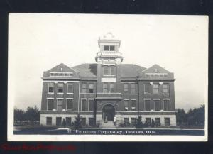 RPPC RONKAWA OKLAHOMA UNIVERSITY PREPARATORY VINTAGE REAL PHOTO POSTCARD