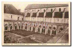 Old Postcard Noirlac near St Amand Montrond Cher Inner Court