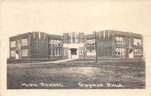 Guymon Oklahoma~High School Building~Some Windows Open~c1930s RPPC