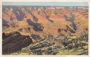 ARIZONA, PU-1931; Airplane View Of Grand Canyon, El Tovar Hotel, FRED HARVEY