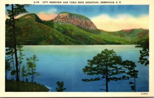 South Carolina Greenville City Reservoir and Table Rock Mountain