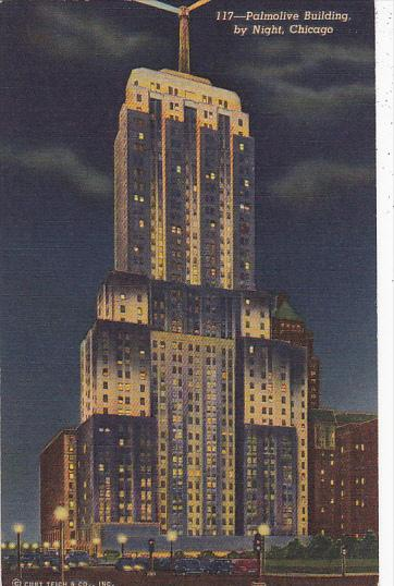 Palmolive Building by Night Chicago Illinois