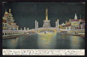 1906 CONEY ISLAND*NIGHT SCENE IN DREAMLAND*BROOKLYN TO NEWARK*WIDNER
