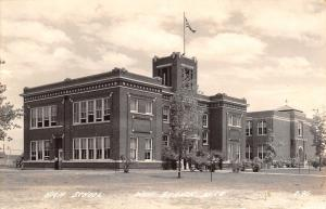 West Branch Michigan~Elementary & Art Deco High School Postcard RPPC 1940s