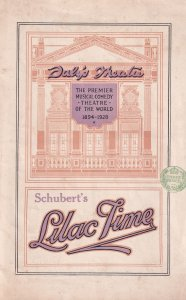 Schubert Lilac Time Daleys Scottish Tenor Old Theatre Programme