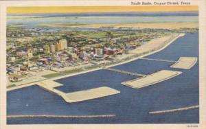 Texas Corpus Christi Aerial View Of Yacht Basin 1945 Curteich