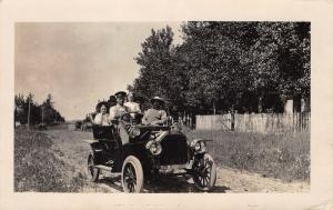 RPPC Even Hillbillies Can Use A Chauffeur When Riding in Buick Model F Car~1908