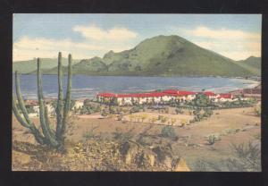 GUAYMAS SONORA MEXICO HOTEL PLAYA DE CORTES VINTAGE ADVERTISING POSTCARD
