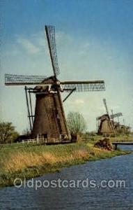 Windmills Postcard Post Cards, Old Vintage Antique