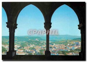 Postcard Modern Leiria Portugal View of the Chateau