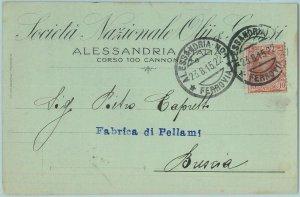 97017  - CARTOLINA d'Epoca - ALESSANDRIA citta' - PUBBLICITARIA  1915