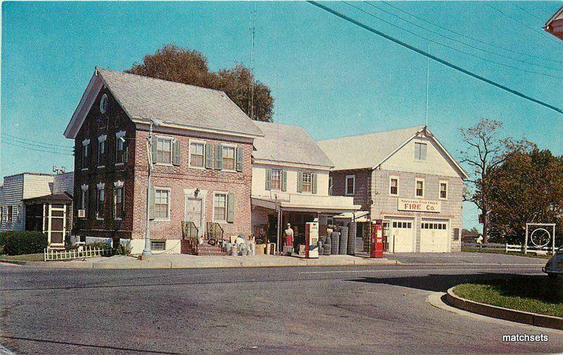 1950s Gas Station Hewitt's General Store Roadstown New Jersey Geiger 7750