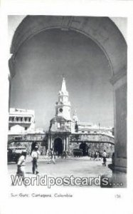 Real Photo Sun Gate Cartagena Columbia Postal Used Unknown, Missing Stamp