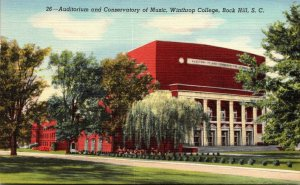 South Carolina Rock Hill Auditorium and Conservatory Of Music Winthrop Colleg...