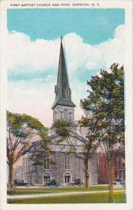 New York Norwich First Baptist Church And Park