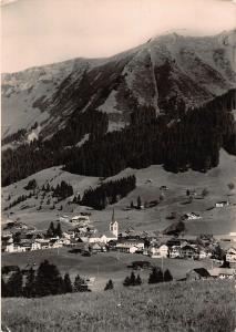Kleinwalsertal Riezlern Village Church Panorama Postcard