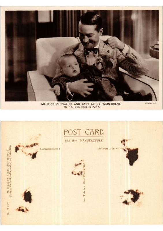 CPA Maurice Chevalier and Baby Leroy Wein-Brener FILM STAR (399408)