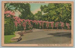 Wilmington Delaware~Turn Around On Garden Drive~1940s Linen Postcard