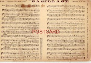 BABILLAGE music Paroles d'ANTONIN LOUIS, Musique de E. GILLET