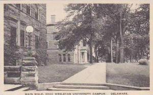 Ohio Delaware Main Walk Ohio Wesleyan University Campus Albertype