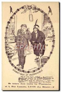 Old Postcard Diabetic and incorrigible Lassalle Street Lyon