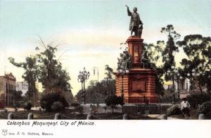 MEXICO CITY D.F. COLOMBUS MONUMENT BY CORDIER IN 1877~J G HATTON POSTCARD 1900s