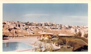 Jordan Old Vintage Antique Post Card Intercontinental Hotel Pool Amman Writin...