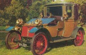 Lanchester 1908 British 20 HP Model  Car Rare Photo Postcard