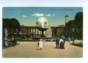 150503 POLAND Warsaw Church & fountain Vintage postcard
