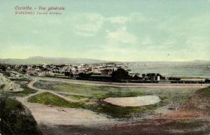 greece, CORINTH Κόρινθος, General View with Trains (1919) Postcard