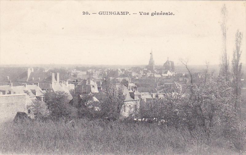 Vue Generale, GUINGAMP (Côtes-d´Armor), France, 1900-1910s