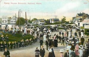 Nahant Massachusetts~Bass Point~Relay House Grounds~Leading Hotel~Crowds~1910