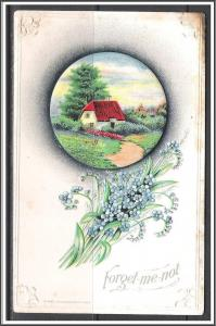 Forget Me Not - Flowers - Scenic View - Embossed - [MX-142]