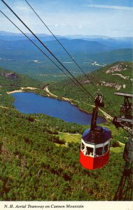 NH - Franconia Notch. Cannon Mountain Aerial Tramway circa 1960's
