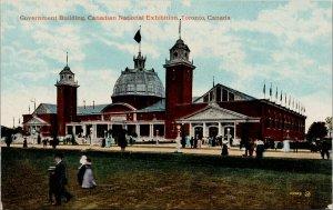 Toronto Ontario Canadian National Exhibition Government Building Postcard G20