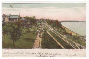 Whitefish Bay Milwaukee Wisconsin 1906 glitter highlights postcard