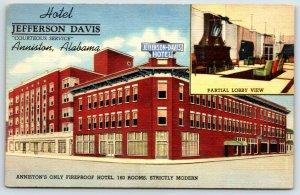 Jefferson Davis Hotel  Post Card Alabama A8