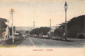 South Africa Durban Berea Road tramway postcard