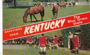 Greetings From Kentucky The Blue Grass State With Horses