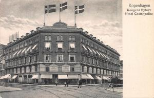 Hotel Cosmopolite, Copenhagen, Denmark, Early Postcard, Unused