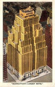 New York City Hotel New Yorker Manhattan's Largest Hotel 1952