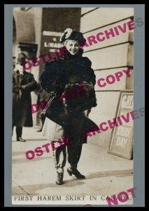 Canada RPPC c1910 FIRST HAREM SKIRT Women's Freedom WEARING PANTS Social History