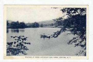 Boating at Green Mountain Lake Farms, Pawling, New York, 1920-40s