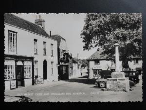 Alfriston Old Market Cross & SMUGGLERS INN & L.W.Wilde POST OFFICE c1950's RP