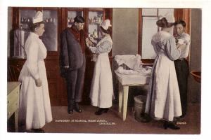 Nurses and Patients, Infirmary at Hospital, Indian School, Carlisle, Pennsylv...
