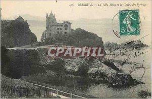 Old Postcard Biarritz Villa Belza and Chaine des Pyrenees