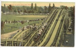 Cleveland OH Euclid Beach Park Scenic Railway Coaster Postcard