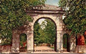 Ohio Columbus Greenlawn Cemetery Entrance